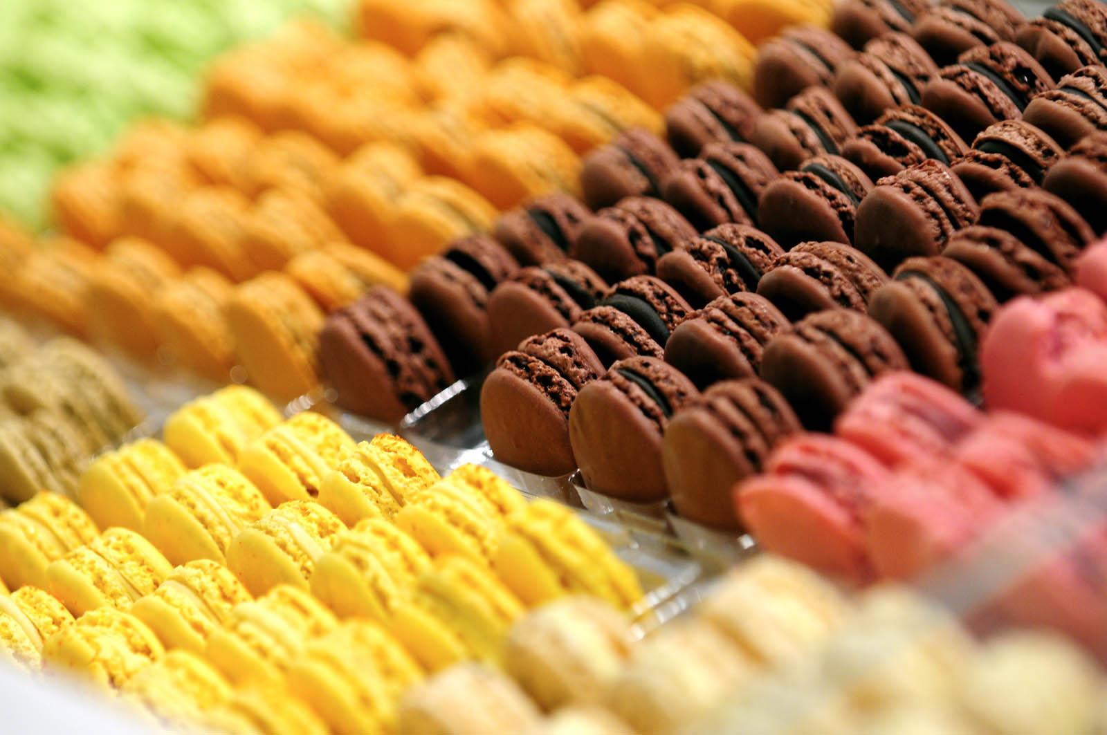 Présentation de macarons